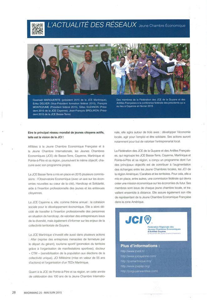 Article Fédération GAF Caribmag mai juin 2015