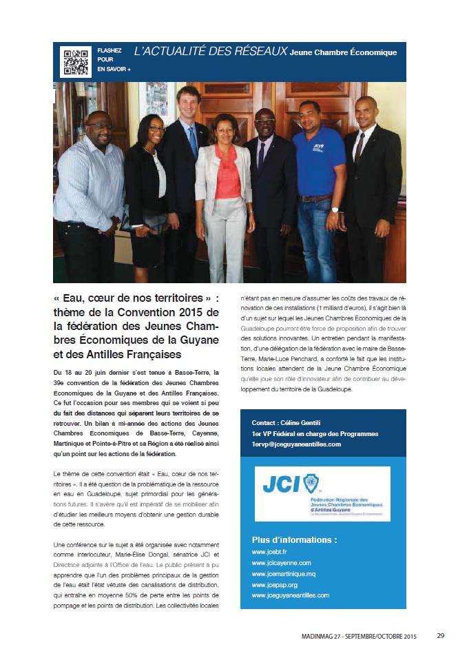 Article Caribmag septembre octobre 2015