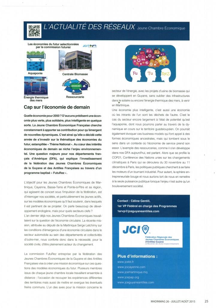 Article Fédération GAF Caribmag juillet Août 2015