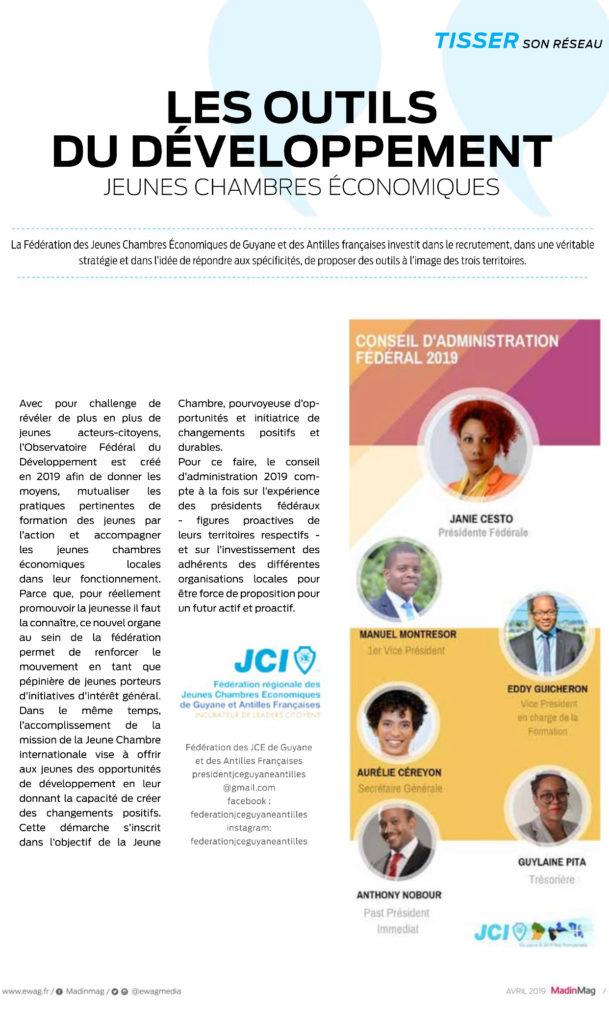 Actualités – Fédération JCE Guyane et Antilles Françaises